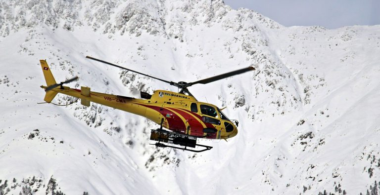 helicopter, mountains, snow