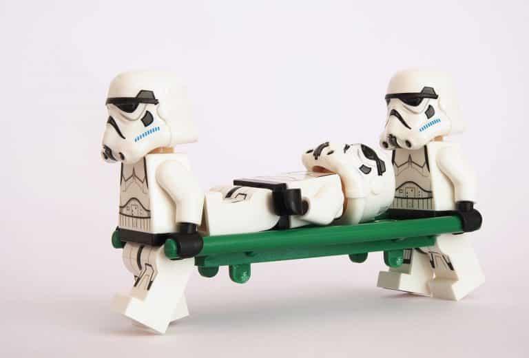 stormtrooper, lego, stretcher